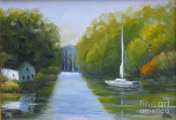 Painting - Severn River Reflections by Linda Anderson