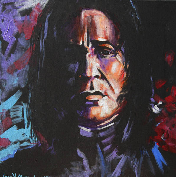 Snape Wall Art - Painting - Severus by Jean Alexander