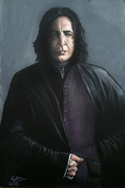 Snape Wall Art - Painting - Severus Snape by Tom Carlton