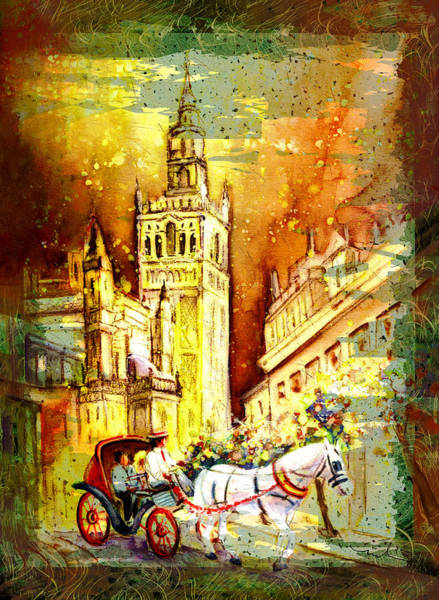 Painting - Sevilla Authentic Madness by Miki De Goodaboom
