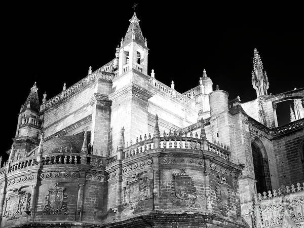 Catedral De Sevilla Wall Art - Photograph - Seville Cathedral At Night by John Rizzuto