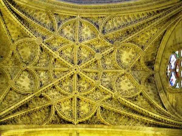 Photograph - Seville Cathedral Ceiling II Spain by John Shiron