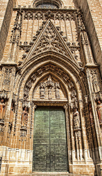 Photograph - Seville Cathedral Door, Spain by Tatiana Travelways