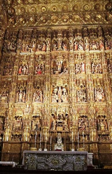 Photograph - Seville Golden Wall Cathedral II Spain by John Shiron