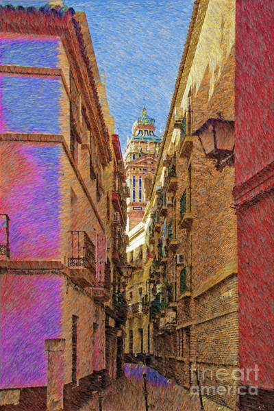 Balcony Digital Art - Seville In Pastel by Mary Machare