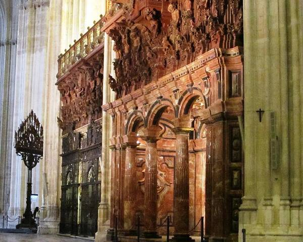 Photograph - Seville Marble Wall II Cathedral Spain by John Shiron