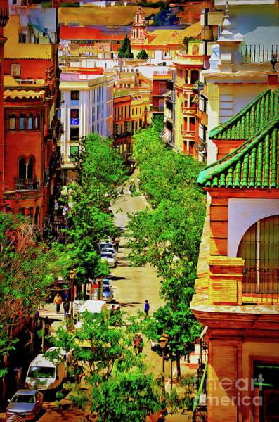Wall Art - Photograph - Seville - Towards The River Guadalquivir by Mary Machare