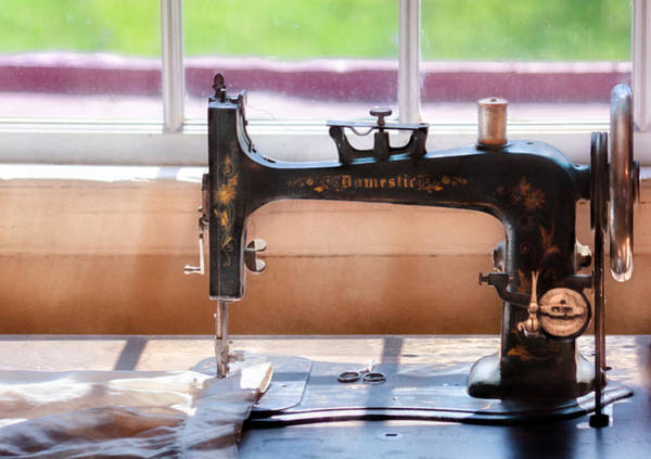 Photograph - Sewing Machine - A Stitch In Time by Mike Savad