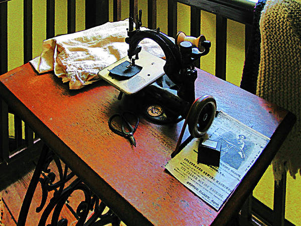 Photograph - Sewing Machine With Cloth by Susan Savad