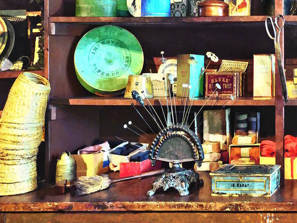 Photograph - Sewing Supplies In General Store by Susan Savad