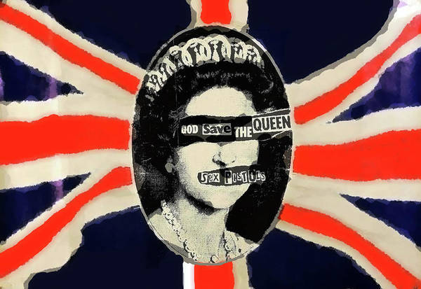 Iggy Pop Wall Art - Mixed Media - sex pistols God save the queen  by Enki Art