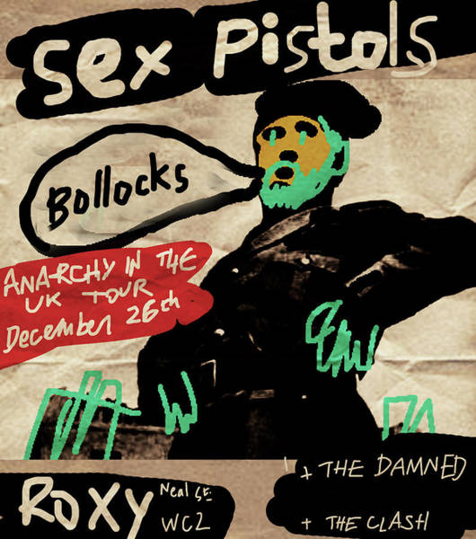 Sex Pistols Drawing - Sex Pistols Live At The Roxy  by Enki Art