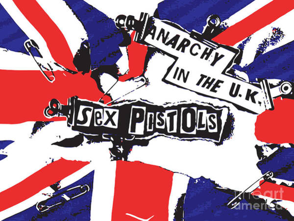 Punk Digital Art - Sex Pistols No.02 by Geek N Rock