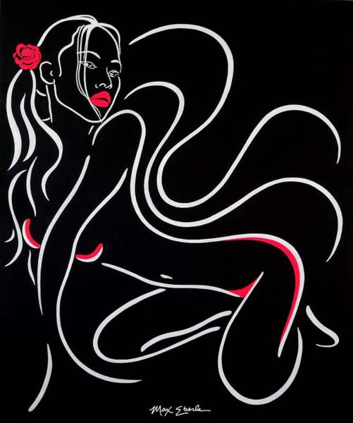 Blacklight Painting - Sexual Feeling by Max Eberle