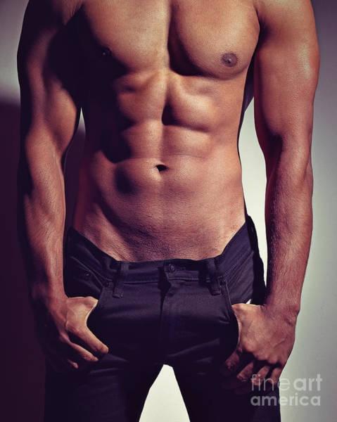 Sexy Male Muscular Body Art Print