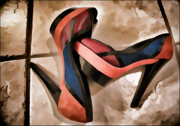 Photograph - Sexy Orange High Heels by Ginger Wakem