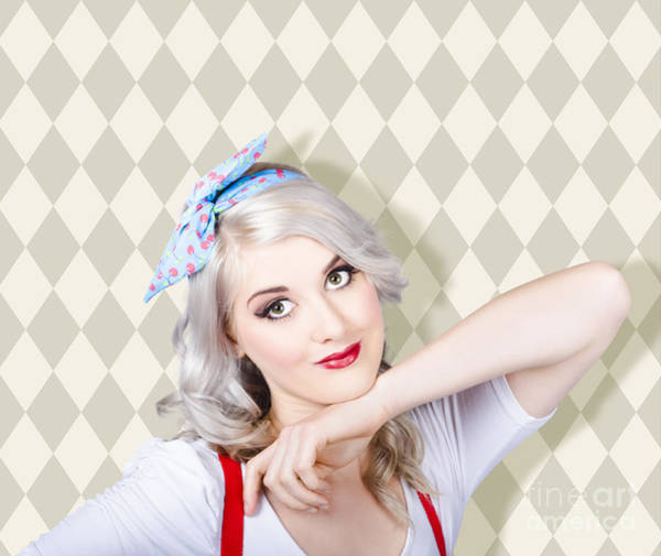 Photograph - Sexy Retro Blond Hair Pinup Girl. Classic Make-up by Jorgo Photography - Wall Art Gallery