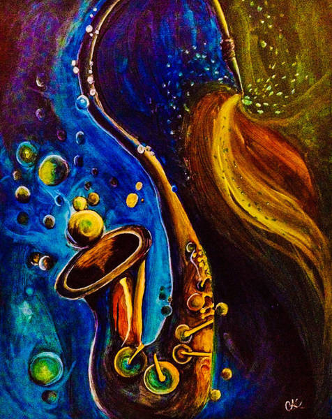 Sax Painting - Sexy Sax by Catherine  Carbone