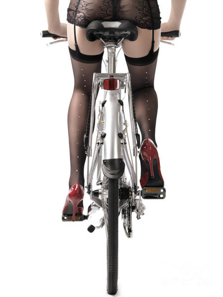 Body Parts Photograph - Sexy Woman Riding A Bike by Oleksiy Maksymenko