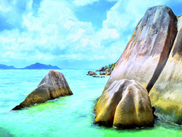 Painting - Seychelles Shallows by Dominic Piperata