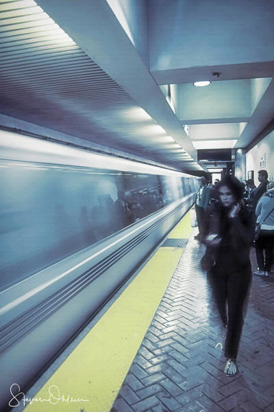 Wall Art - Photograph - Sf Subway  2 - Blue Dream - Signed Limited Edition by Steve Ohlsen