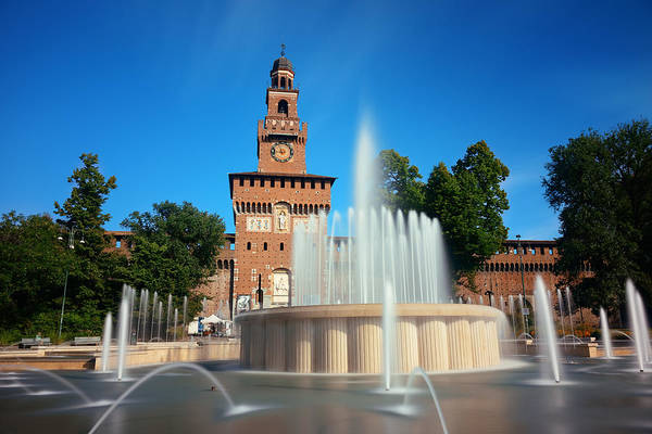Photograph - Sforza Castle Fountain by Songquan Deng