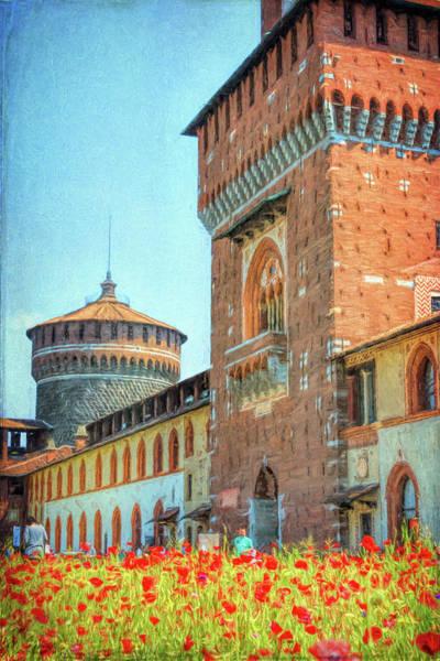Photograph - Sforza Castle Milan Italy by Joan Carroll