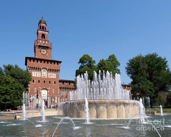 Wall Art - Photograph - Sforza Castle Torre Del Filarete Milan Italy by Louise Heusinkveld