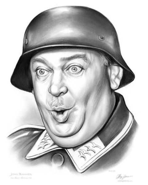Wall Art - Drawing - Sgt Schultz by Greg Joens