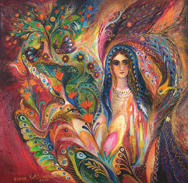 Wall Art - Painting - Shabbat Queen by Elena Kotliarker