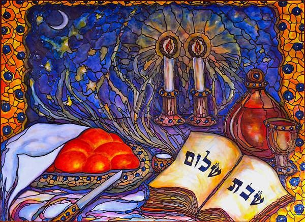 Wall Art - Painting - Shabbat Shalom by Rae Chichilnitsky