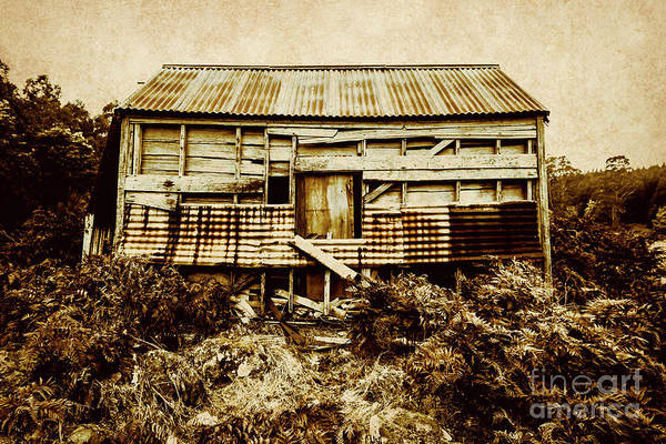 Damaged Photograph - Shabby Country Cottage by Jorgo Photography - Wall Art Gallery