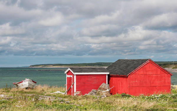 Gros Morne Photograph - Shack And Dory by Andrew Wilson