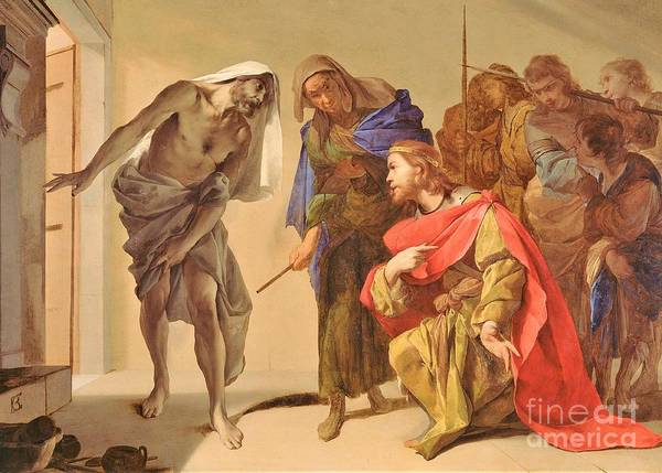 Wall Art - Painting - Shade Of Samuel Invoked By Saul by Pg Reproductions