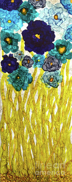 Painting - Shades Of Blue Flowers by Christine Dekkers