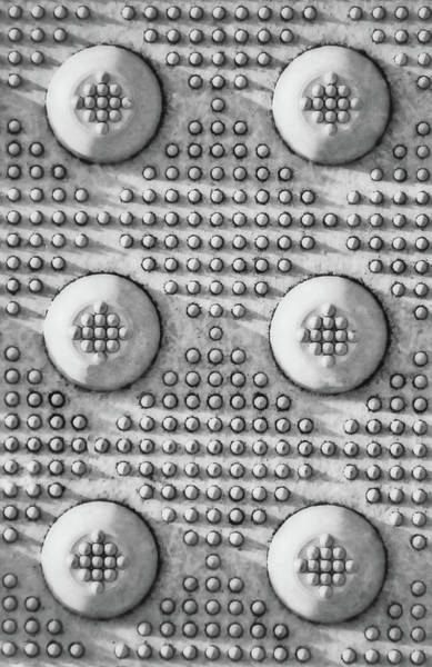 Wall Art - Photograph - Shades Of Gray Dots Portrait Edition by Tony Grider