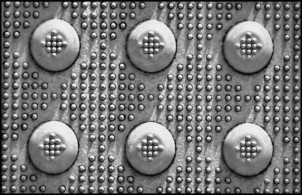 Wall Art - Photograph - Shades Of Gray Dots With Border by Tony Grider