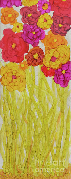 Painting - Shades Of Red Flowers by Christine Dekkers