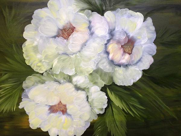 Wall Art - Painting - Shades Of White by Denise Harty