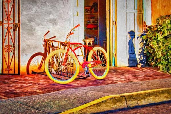 Bicycle Rack Photograph - Shadow And Bike by Nikolyn McDonald