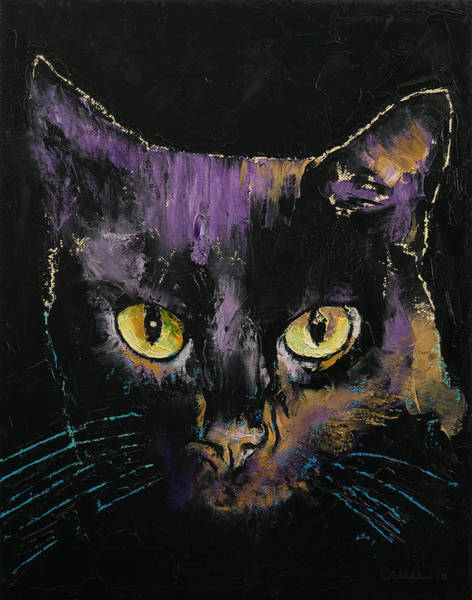 Crazy Cat Painting - Shadow Cat by Michael Creese