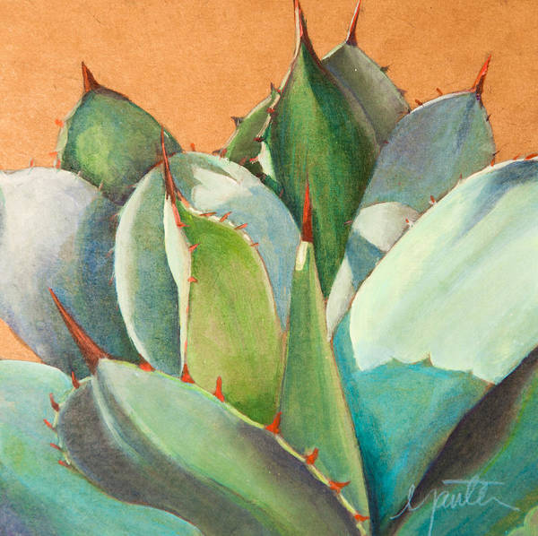 Agave Painting - Shadow Dance 2 by Athena Mantle