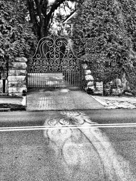 Digital Art - Shadow Gate Bw by Rachel Hannah