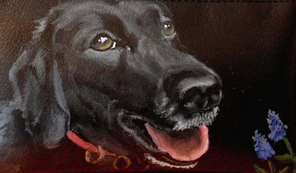 Service Dog Painting - Shadow Good Boy by Carol Russell