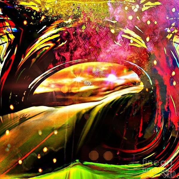 Digital Art - Shadow In The Flowing Window by Swedish Attitude Design