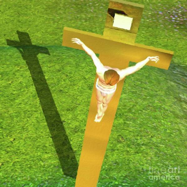 Wall Art - Painting - Shadow Of The Christ by Pierre Blanchard