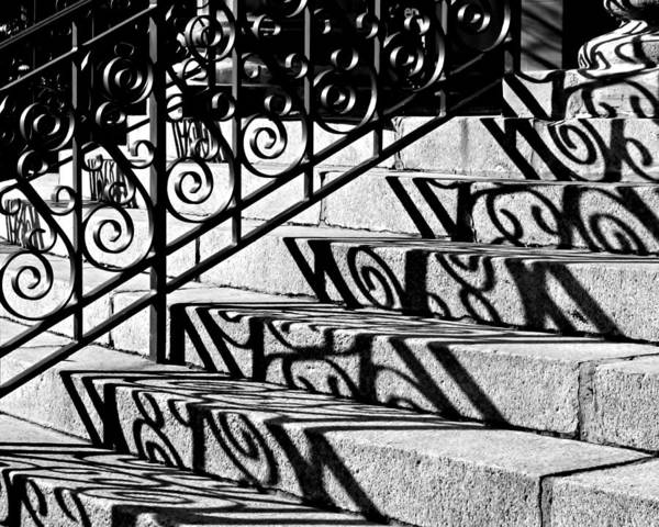 Shadow On The Rotunda Stairs Art Print