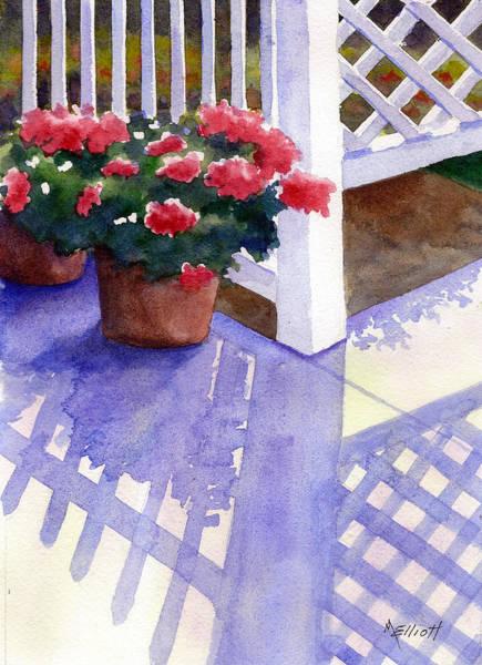 Porch Painting - Shadow Play by Marsha Elliott