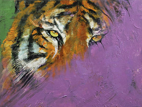 Wall Art - Painting - Shadow Tiger by Michael Creese