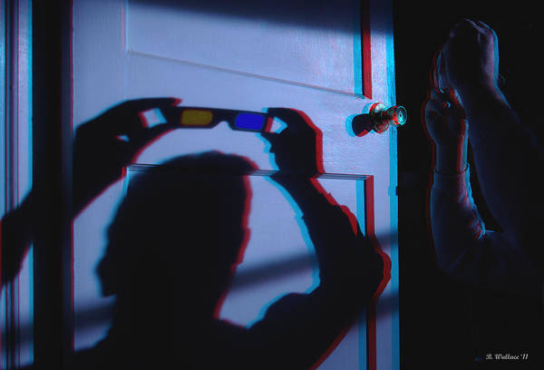 Anaglyph Photograph - Shadow To A Door - Use Red-cyan 3d Glasses by Brian Wallace